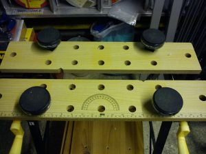 Bench Cookie Plus system set up in my folding workbench