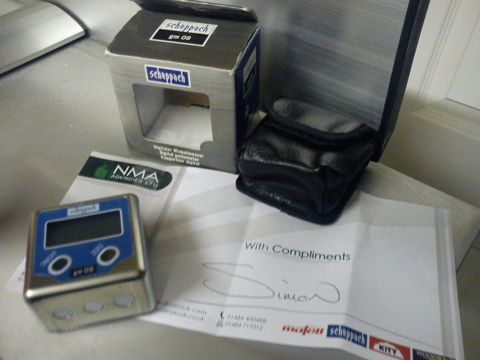 Scheppach digital goniometer and complements slip