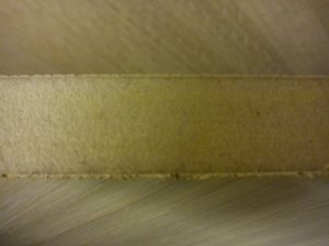 Swan edges of veneered MDF