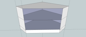 Google sketchup plan of TV stand