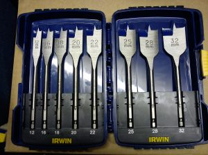 Spade bit set from Irwin