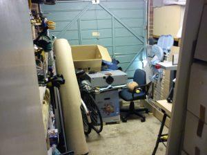 Garage after decluttering