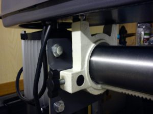 Motor mount and belt tensioning for AWBRD550