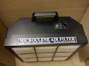 Top of Microclene MC760 air filter