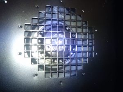 Fan inlet of Microclene MC760 air filter
