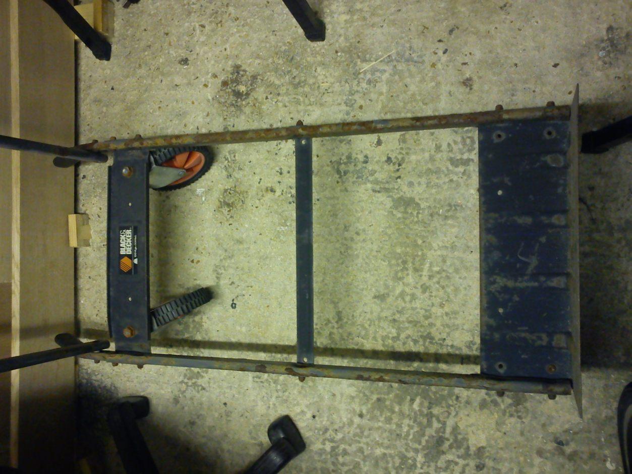 Black & Decker sack truck/trolley in trolley mode