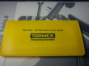 Yellow case in Tormek box