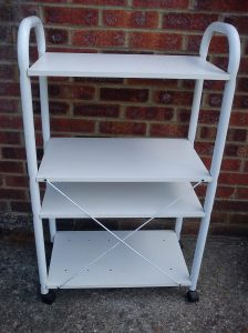 Printer table/trolley (back view showing crossbraces)