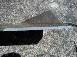 Lawnmower blade after sharpening