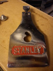 Stanley Bailey lever cap after pain splodges were scraped off