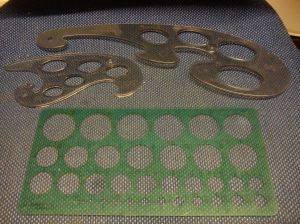 Selection of oval and circular stencils