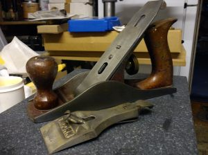 Acorn No. 4 plane partially reassembled