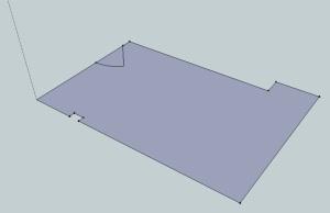 Sketchup plan of garage floorplan