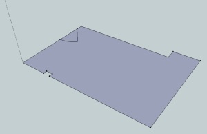 Sketchup plan of garage floorplan
