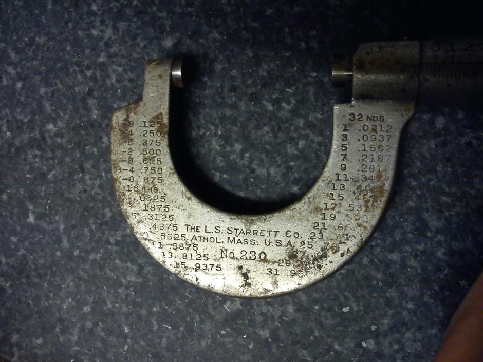 L.S Starrett No. 230 micrometer