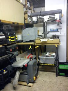Both folding workbenches with Tormek T7 and AWBRD550
