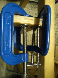 Clamps on stretcher