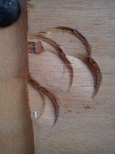 End panel hammer damage