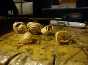 Shavings from sharpened Acorn No. 4