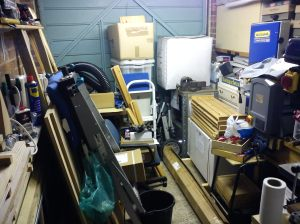Even more cramped workshop with new vice and stand