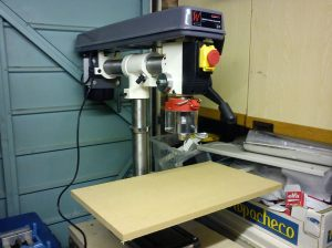 Drill press table mock-up