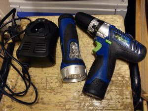 Axion 10.8V drill driver and torch