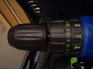 Axion 18V combi drill torque settings