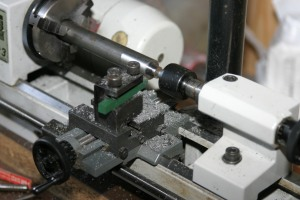 The round bit, just under 9mm to allow for finishing