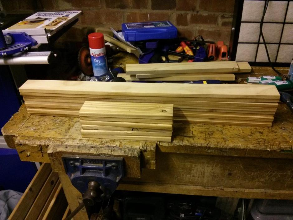 Stack of slats