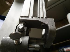 Blade guide mounting screws