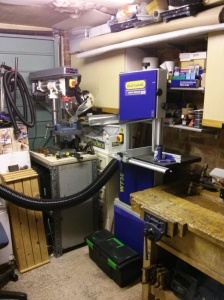 Bandsaw and drill press