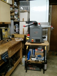 Boxes behind planer thicknesser