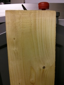Sawn timber part planed
