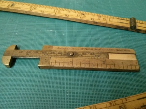 Wooden vernier calipers