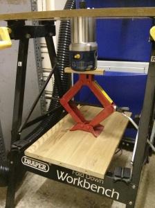 Car jack router lift