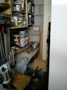 Space behind the fridge