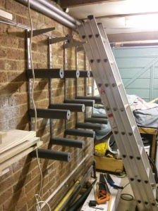 Shelving with pipe lagging