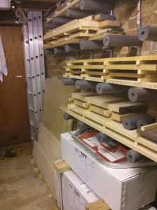Wood and sheet storage