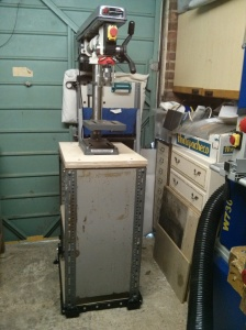 Reconfigured drill press stand