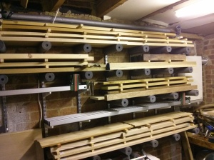 Experimental sash clamp storage