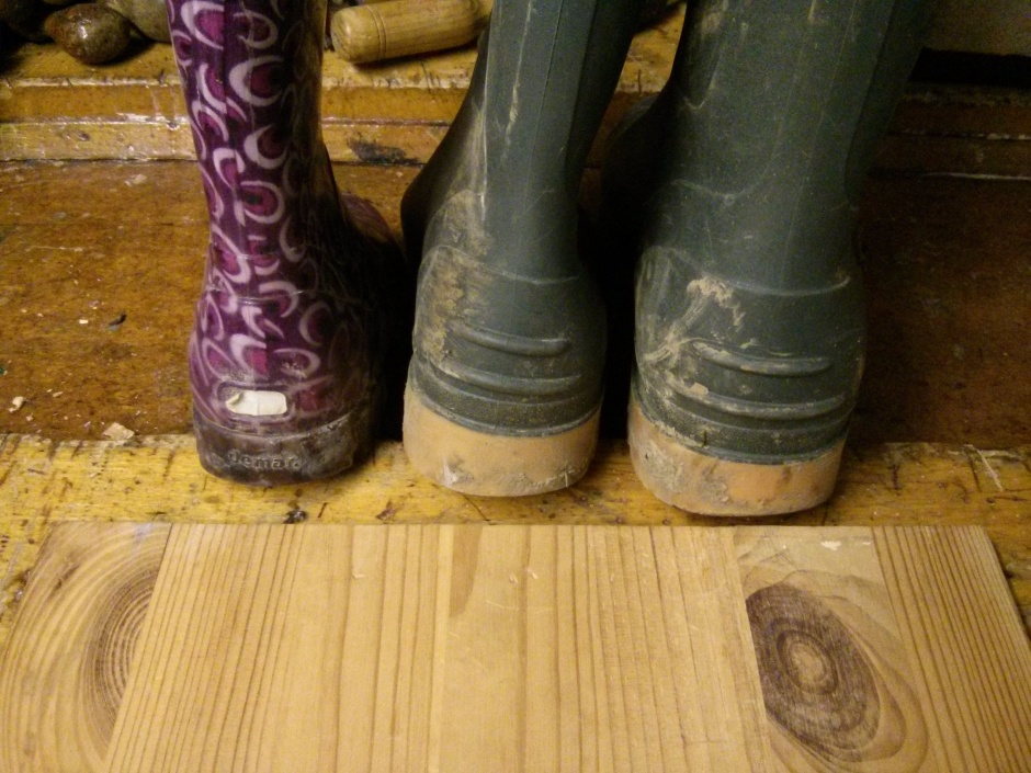 Various welly sizes