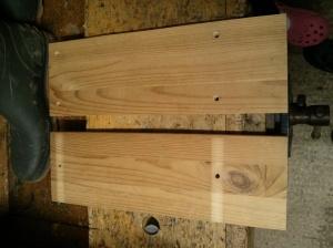 Ikea RAST bedside table split in half