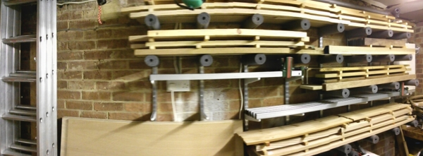 Wood storage before