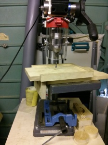 Drilling third mounting hole