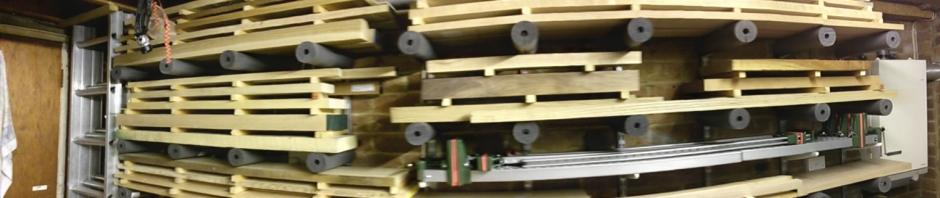 Wood storage panorama