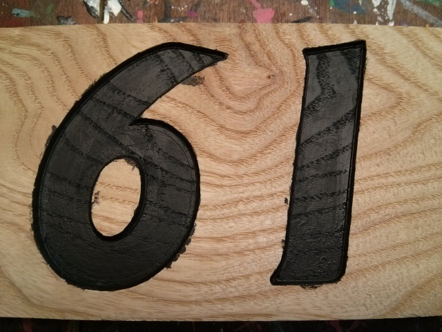 House number after painting